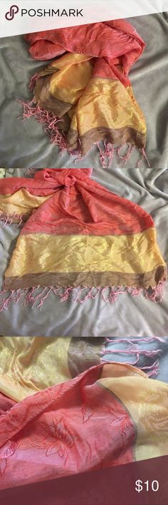Hawaiian silky scarf Beautiful colors! Great for summer Accessories Scarves & Wraps