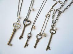 Vintage Skeleton Key Necklaces