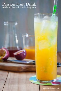 Passion Fruit Drink with a hint of Earl Grey Tea. Photo and recipe by Irvin Lin of Eat the Love.