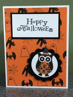 stampin up handmade halloween card autumn fall combined shipping - Stampin Up Halloween Ideas