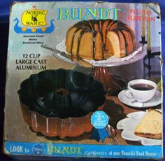 Vintage 1970's Nordic Ware 12 cup Fluted Tube Pan - This was my mother's and I have some wonderful memories of the cakes she used to bake in it but I don't have any of her recipes.  It was passed down to me more than 10 years ago but I haven't ever used it.  I've found some amazing bundt cake recipes and can't wait to try them out.