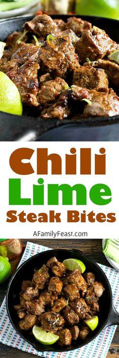 Chili Lime Steak Bites - A Family Feast