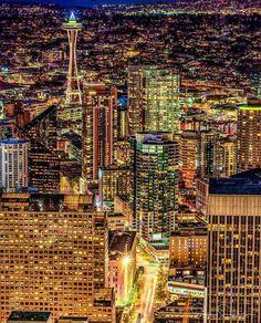 Stunning Cityscapes of Seattle, Washington by Sigma Sreedharan Beautiful Places To Visit, Cool Places To Visit, Places To Go, Living In Washington State, Seattle Washington, Photographie New York, Seattle Travel, Seattle Sights, Seattle Homes