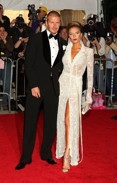 Pin for Later: 75 Moments Inoubliables du Met Gala David Beckham et Victoria Beckham — 2008