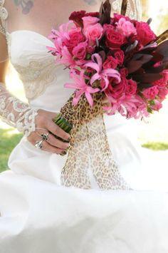 Wild Pink Wedding Flowers