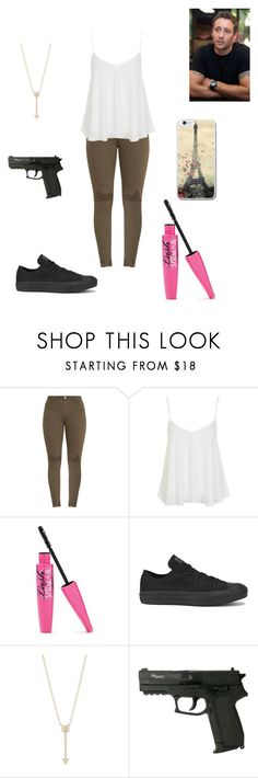 """""""Untitled #630"""" by pufferfishgal on Polyvore featuring Topshop, Converse and EF Collection"""