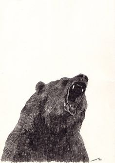 Angry Bear by JamieMilk on Etsy