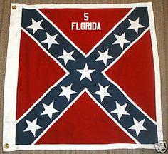 civil war florida pictures | COTTON-Civil-War-Flag-Confederate-Flag-5th-Florida
