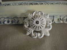 White KnobVintage Dresser Knobs Drawer by KellyKustomKreations