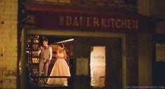 Bride and Groom speech on the bar. Taylor Jackson Photography. The Bauer Kitchen wedding venue. Restaurant wedding.
