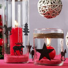 red candles brightening christmas and new-year
