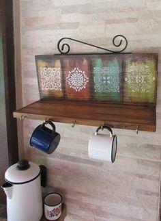 Decoupage Vintage, Vintage Crafts, Tile Crafts, Wood Crafts, Farm Crafts, Pinterest Crafts, Diy Wall Art, Wooden Diy, Painting On Wood