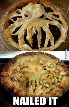 Cthulhu Pie Crust. Nailed it.