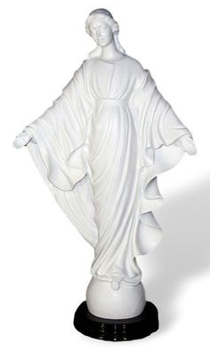 Madonna Our Lady of Smiles Alabaster Statue   Made In Italy