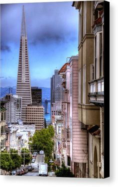 View Of The Trans America Building Canvas Print featuring the photograph San Francisco by Anthony Citro