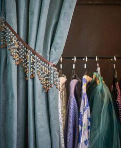 Hang a heavy curtain to create a walk-in wardrobe in your bedroom | #IKEAIDEAS #wardrobe #bedroom