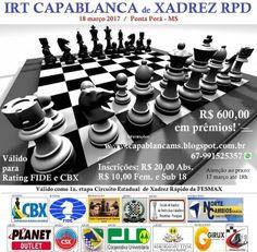 Esporte Ágil - Ponta Porã recebe IRT Capablanca de Xadrez em março