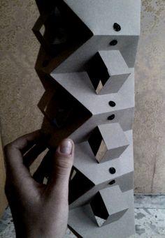 Aplicación estructuras plegables y laminares Lámpara terminada dimensiones x3