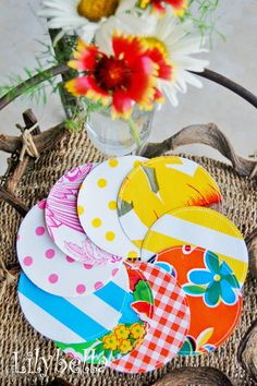 Drink Coasters  Oilcloth  Design Your Own by lilybellaboutique, $10.00