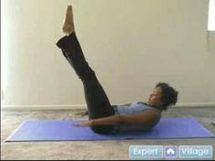 """▶ Beginner Pilates Exercises : The """"Hundred"""" Exercise for Pilates - YouTube"""