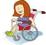 Man in Wheelchair Clip Art | Handicapped illustrations and clipart