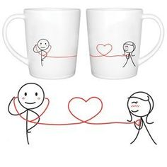 "BoldLoft ""My Heart Beats for You "" Couple Coffee Mugs"