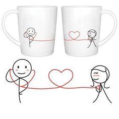 "BoldLoft ""My Heart Beats for You "" Couple Coffee Mugs"