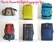 How to Choose the Right Luggage for You | Style for a Happy Home #travel #packing