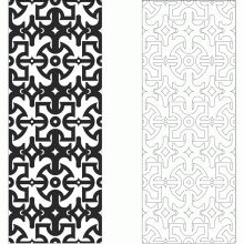Vectorized furniture scroll saw pattern