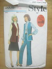 Style 3808 sewing pattern ladies waistcoat trousers skirt size 12