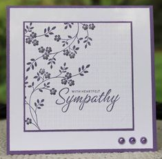 pretty card - Thoughts & Prayers branch (SU)