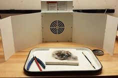 Winged Sentry solder fume extractor in the studio of Sentry Air customer Deryn Mentock, jewelry artist.