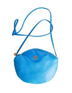 Christian Dior Vintage Blue Leather Crossbody Bag