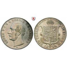 Braunschweig, Königreich Hannover, Georg V., Ausbeutetaler 1854, ss+: Georg V. 1851-1866. Ausbeutetaler 1854 B. Ausbeute. AKS 158;… #coins