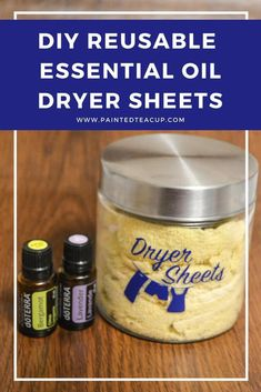 Easy, all natural & frugal DIY essential oil dryer sheets