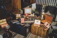 "Cigar bar | Daily Inspiration: Taking Cues from ""Boardwalk Empire"" | Southern Maryland Weddings | Photos by Edward Lai Photography #themewedding #vintagewedding"