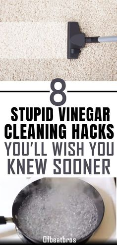 Vinegar is a highly versatile household cleaner and has some amazing cleaning hacks to clean a lot of stuff around your home. These stupid vinegar cleaning tips are simply brilliant to clean your house easily and get a clean home easily. Cleaning Hacks Tips And Tricks, Deep Cleaning Tips, Cleaning Recipes, Natural Cleaning Products, Green Cleaning, Diy Hacks, Easy Life Hacks, Borax Cleaning, Household Cleaning Tips