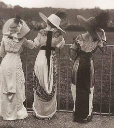 Edwardian period.  Beautiful shot. At the races, perhaps.