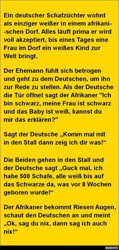 Ein deutscher Schafzüchter wohnt als einziger weißer.. | Lustige Bilder, Sprüche, Witze, echt lustig