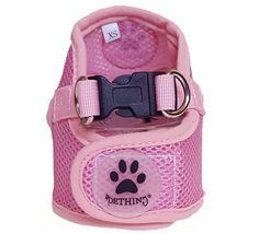 Harnais veste Puppy rose pour petit chien