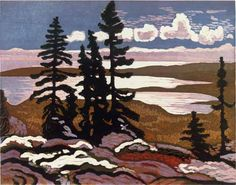 "Lawren Harris - ""Early Winter"" [Group of Seven, Canadian artist] Group Of Seven Art, Group Of Seven Paintings, Tom Thomson, Emily Carr, Canadian Painters, Canadian Artists, Landscape Paintings, Abstract Landscape, Contemporary Landscape"