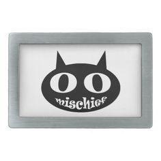 """""""Mischief Cat"""" Belt Buckles"""