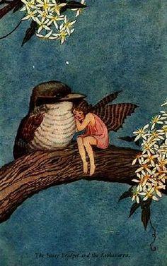 vintage fairy+fatina+uccellino