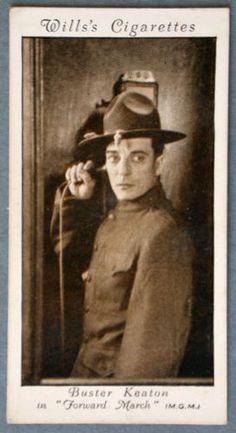 Buster-Keaton-1931-Will-039-s-Movie-Star-Trading-Card