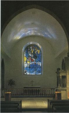 Marc Chagall's window in a tiny church in Tudeley, Kent, a few miles from where I live, intend on going to take some photos