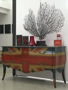 """Bombe chest of drawers with """"Union Jack"""" #flag"""