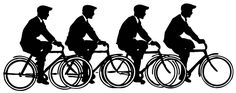 Vector Images - Vintage Men on Bicycles - Graphics Fairy