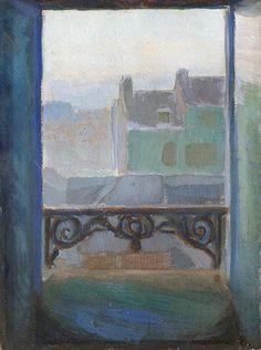 Thorvald Erichsen (Norwegian, View of Montmartre, Oil on panel, x cm Open Window, Window Art, Window View, Landscape Paintings, Art Paintings, Online Art, Painting & Drawing, Illustration Art, Windows