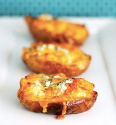 Buffalo Chicken Stuffed Potato Skins