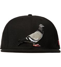 Black Pigeon Fitted Cap 1